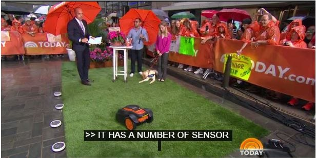 WORX Landroid on the TODAY Show