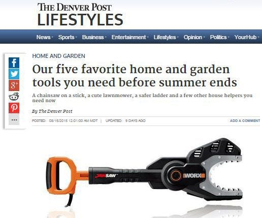 The WORX JawSaw in the Denver Post