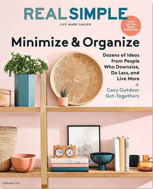 Real Simple magazine cover February 2021 issue