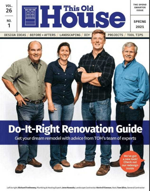 This Old House magazine cover featuring Do-It-Right Renovation Guide