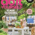 Better Home and Gardens magazine cover with patio furniture and dog sitting on chair